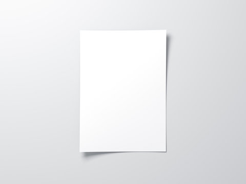 White vertical paper sheet Mockup, letter or invitation