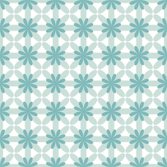 Vector. Abstract green flowers. Seamless pattern vector illustration