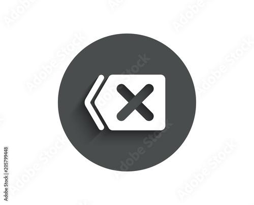 Delete Simple Icon Remove Sign Cancel Or Close Symbol Circle Flat