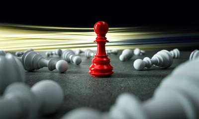 Sich von der Masse abheben - Schachfigur