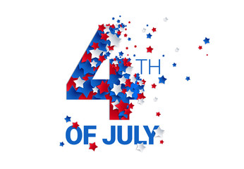 Fourth of July background - American Independence Day vector illustration - 4th of July