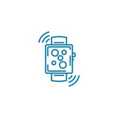 Digital watch line icon, vector illustration. Digital watch linear concept sign.