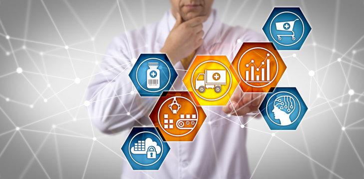 Scientist Managing Prescription Drug Supply Chain