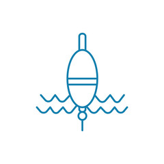 Fishing float line icon, vector illustration. Fishing float linear concept sign.