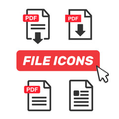 Download icon. File download icon. Document text, symbol web format information