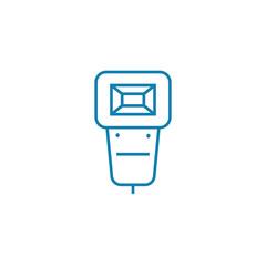 Mountable flash line icon, vector illustration. Mountable flash linear concept sign.