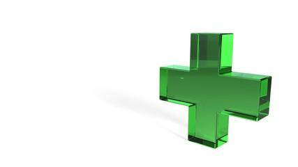 Medicine symbol on a white background, 3d rendering