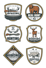 Set of huntings icons