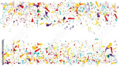 colored foil confetti falling down cool stars tinsel christmas birthday party