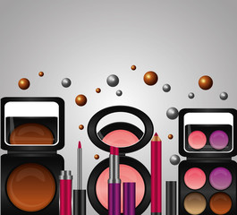 spray cream tube cosmetic makeup products vector illustration