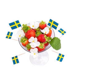 Strawberries belong to Swedish traditional Midsommar food