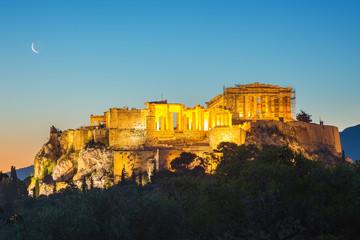 Parthenon, Acropolis of Athens, Greece at summer sunrise