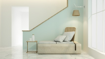 The interior relax space 3d rendering and minimal