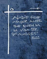 Religious Christian phrase in spanish illustration