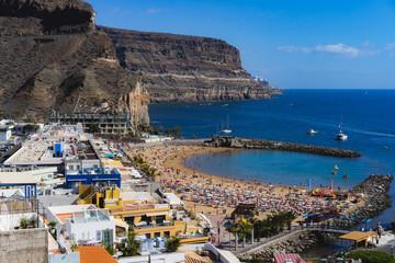 Deurstickers Canarische Eilanden Puerto de Mogan, Gran Canaria