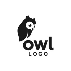 Fotobehang Uilen cartoon baby owl logo icon cute animal vector
