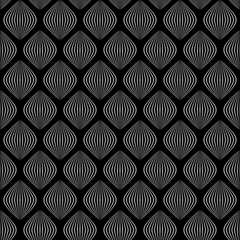 simple shapes. vector seamless pattern. black and white illustration