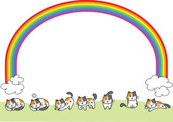 cat vector background