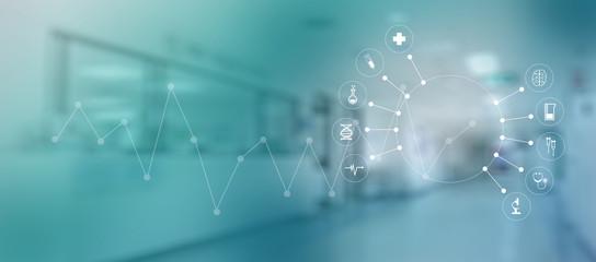 medicine heart Medicine doctor  technology network concept medical network connection