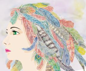 華やかな女性の横顔