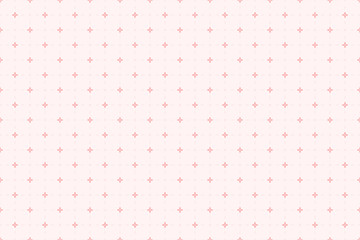 Backgrounds pattern seamless geometric sweet pink  flower and square dash line abstract vector design. Pastel color background.