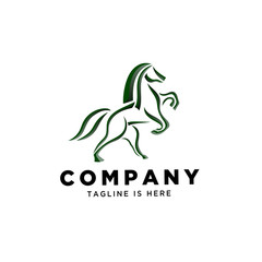 line art Stand horse logo