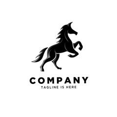 Stand horse logo art