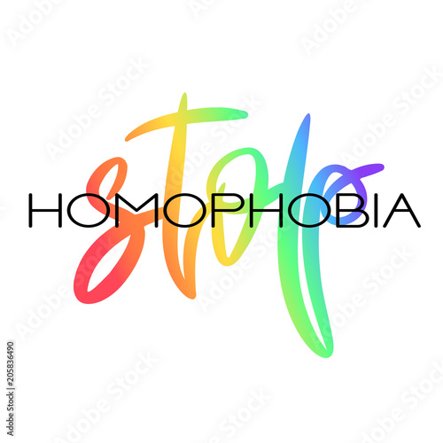 conceptual poster with rainbow lettering stock image and royalty