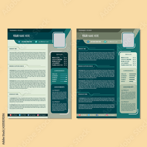 Curriculum Vitae Design Template Stock Image And Royalty Free