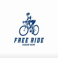 Cycling logo designs, Free Ride logo template vector