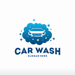 Car Wash logo designs concept vector, Automotive Cleaning logo template