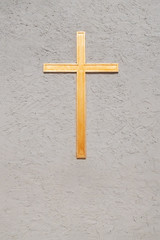 The Golden Crucifix on the Wall