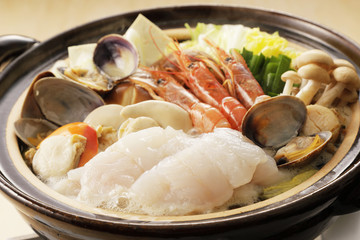 海鮮鍋 Japanese seafood hot pot