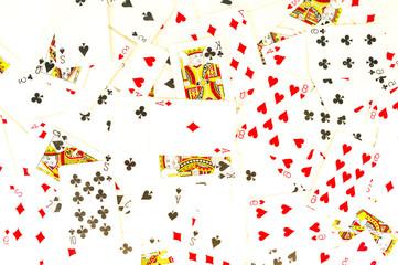 Poker card texture