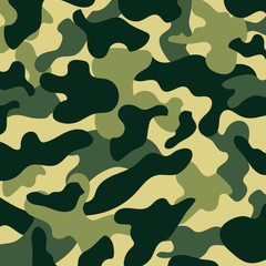 Classic clothing style masking camo repeat print camouflage pattern background. Vector illustration
