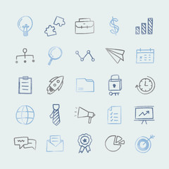 Collection of icons technology