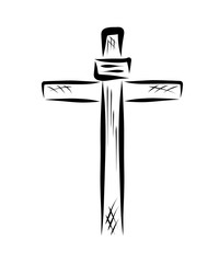 Cross with a sign, Christian symbols