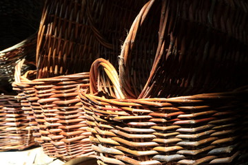 Picture of wicker baskets.