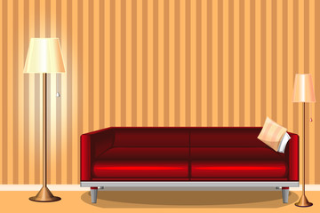 home interior . room, Design project. modern . vector