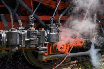 Steam locomotive in detail