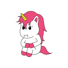 unicorn sitting alone