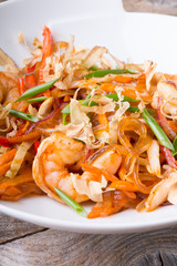 Asian seafood rice noodles