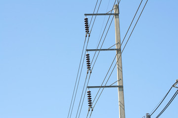 Low Voltage Power Cable and clear sky