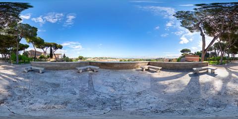 Equirectangular image of Orange Garden ( Giardino degli Aranci) in Piazza Pietro D'Illiria 00153 Roma