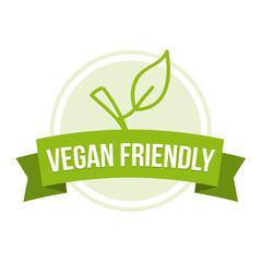 Wall Mural - Vegan friendly Badge - Healthy nutrition Button