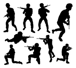 Soldier Detailed High Quality Silhouettes