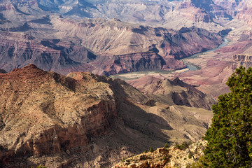 Grand Canyon National Park, Arizona, USA: Overlook at Navajo Point near Desert View Watchtower (no sky)