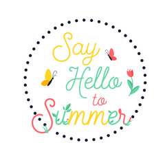 Hello Summer bright poster, banner