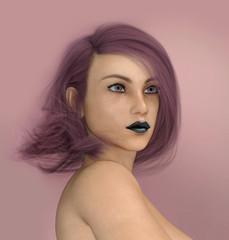 Junge Frau mit rötlichen Haaren