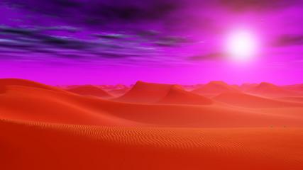 Wüstenlandschaft in einer fernen Welt